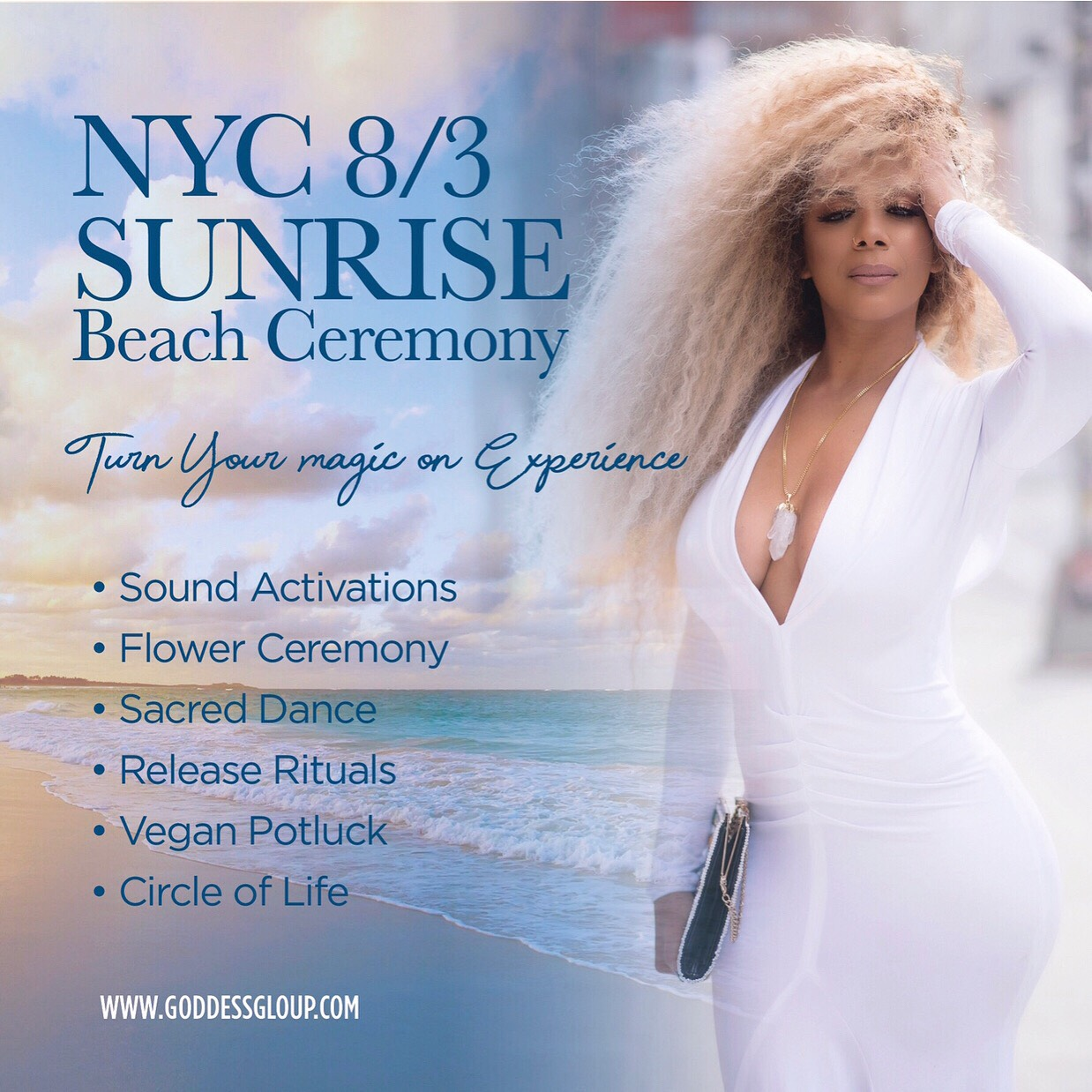 Sunrise Beach Ceremony–August 3rd 6AM